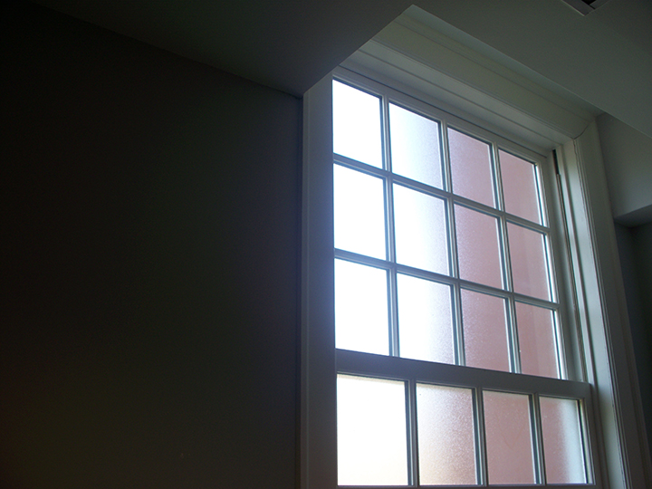 Custom frosted window films