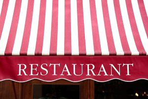 Best awning graphics and signs for Restaurant