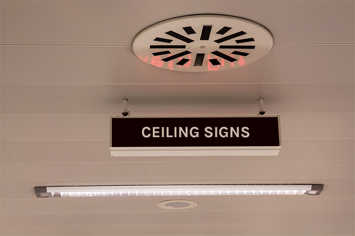 Best ceiling signs for business promotion