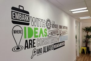 Interior office wall graphics