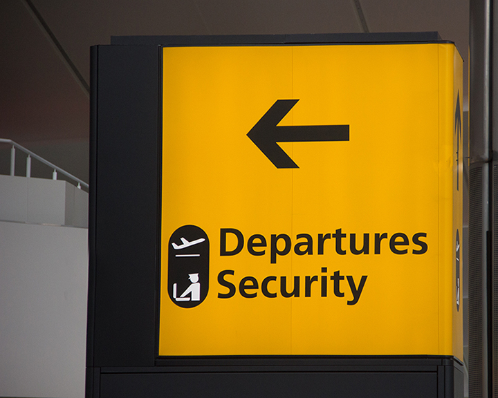 Custom directional signs for Airport