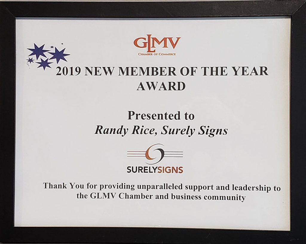 GLMV New Member of the Year