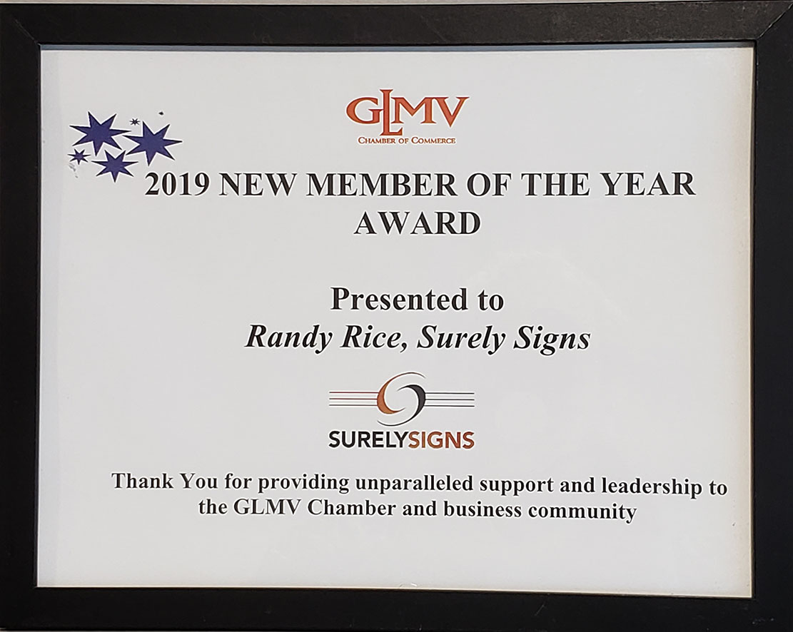 GLMV New Member of the Year