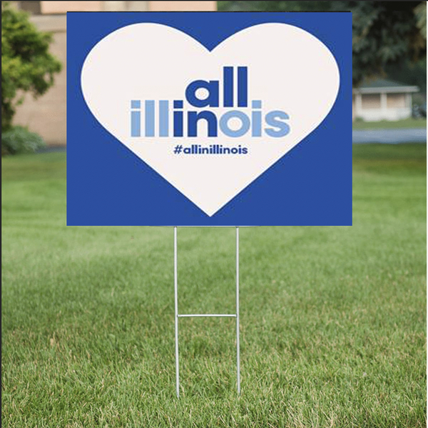 Custom lawn signs for All In Illinois in Chicago, IL
