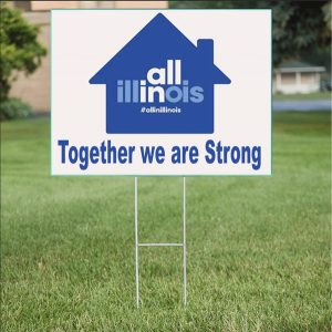 Together We Strong Yard Signs in Chicago, IL