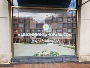 Storefront window vinyl signs and graphics in Chicago, IL