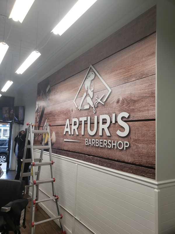 Artur's Wall Murals custom made by Surely Signs in Chicago, IL