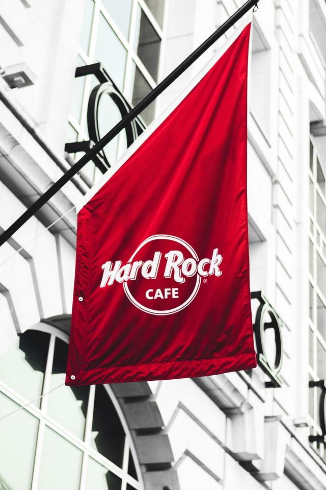 Custom Hard Rock Flag in Chicago, IL