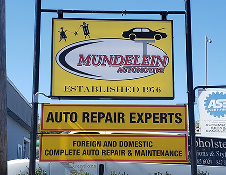 Exterior metal signs for business in Chicago, IL