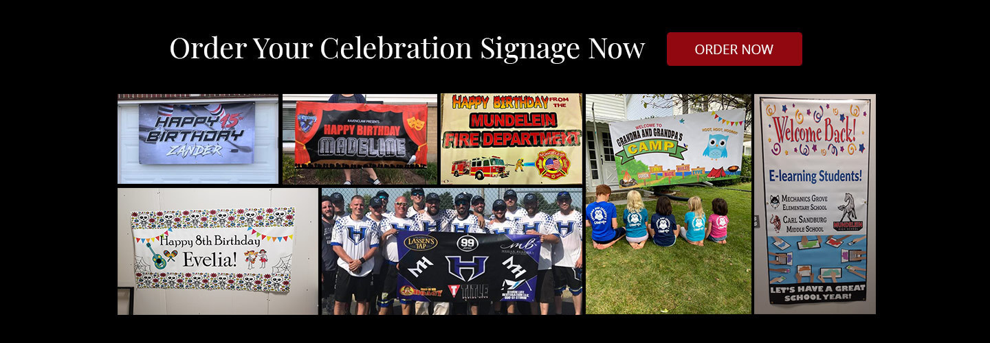 Custom Celebration Signs and Banner Printing by Chicago Sign Company